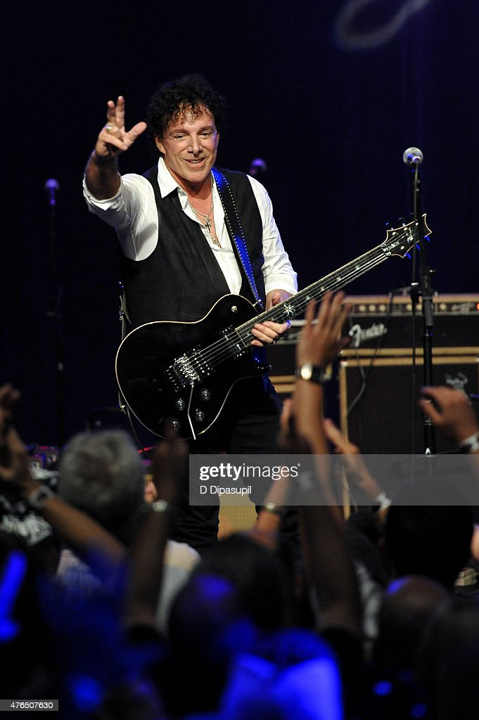 Neal Schon performs onstage during Les Paul's 100th Anniversary Celebration at the Hard Rock Cafe - Times Square on June 9, 2015 in New York City.