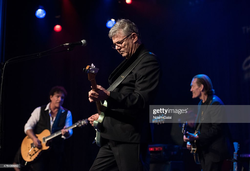 Neal Schon, Steve Miller and G. E. Smith perform during Les Paul's 100th anniversary celebration at Hard Rock Cafe - Times Square on June 9, 2015 in New York City.
