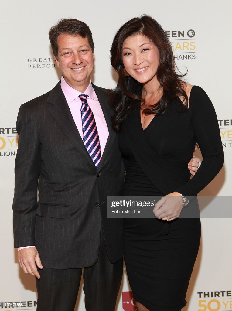 Neal Shapiro (L) and Hyunju 'Juju' Chang attend the THIRTEEN 50th Anniversary Gala Salute at David Koch Theatre at Lincoln Center on November 15, 2012 in New York City.