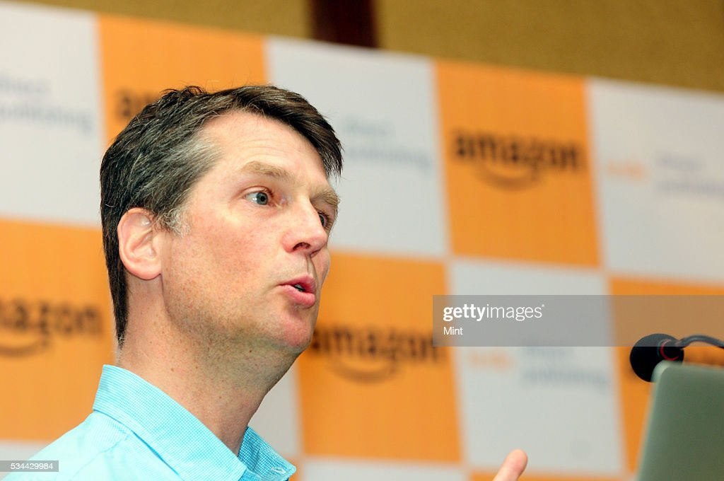 Neal Thompson, Director of Author and Publishing Relations of Amazon.com, speaking during a seminar at Oberoi Grand on December 8, 2015 in Kolkata, India.