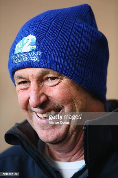 Neale Daniher speaks to media during an Essendon Bombers AFL media and training session at True Value Solar Centre on June 9 2016 in Melbourne...