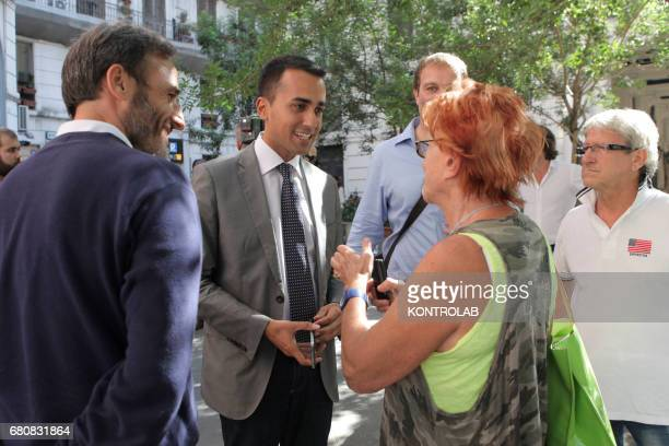 Neapolitan citizens speak with Luigi Di Maio Vice President of Citizen Deputies elected for the Five Star Movement
