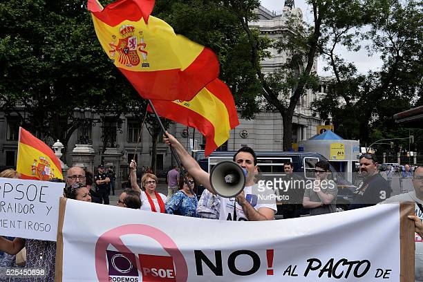 Near 20 persons they protest against Manuela Carmena's choice as mayor of Madrid Manuela Carmena Ahora Madrid candidate elected mayor of Madrid with...