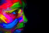 Frauen, Eine Frau allein, Malfarbe, Menschen, Menschliches Gesicht