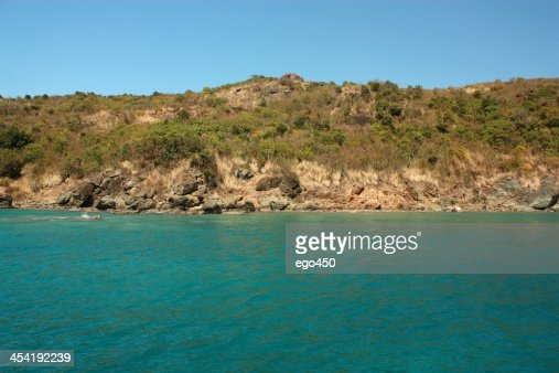 Near the Caribbean Island : Stock Photo