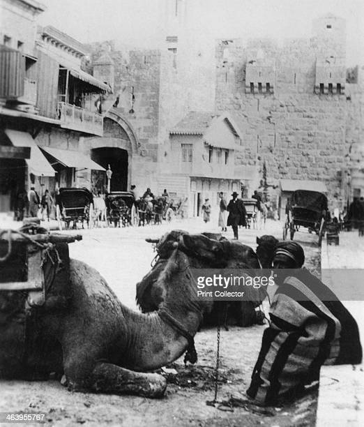 Near the Jaffa Gate Jerusalem c1927c1931 Detail from a stereoscopic card issued with Army Club cigarettes The Jaffa Gate is one of eight gates in the...