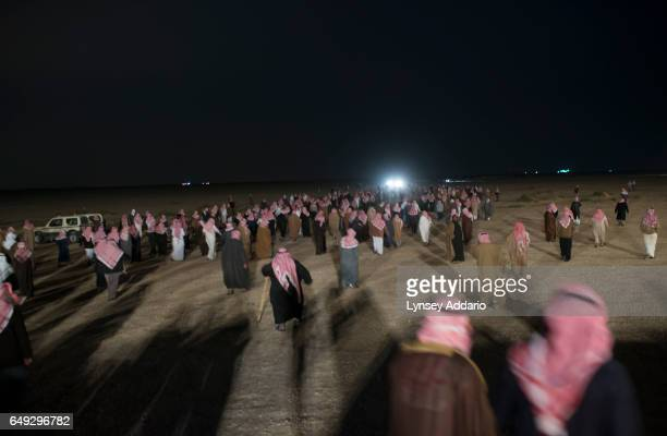 Nearly one thousand Saudi citizens walk into the night after presenting Saudi billionaire HRH Prince al Waleed bin Talal with petitions for his help...