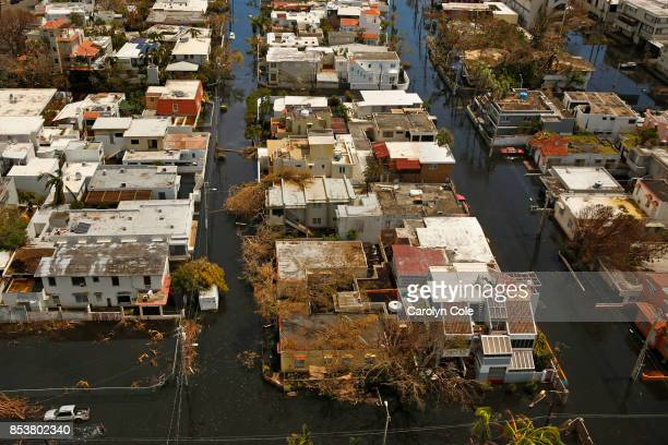 Nearly one week after hurricane Maria devastated the island of Puerto Rico residents are still trying to get the basics of food water gas and money...