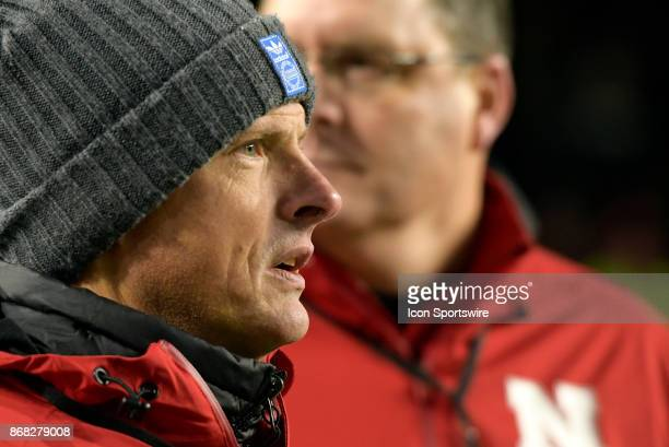 Nebraska Cornhuskers Executive Associate Athletic Director Steve Waterfield looks on during the Big Ten conference game between the Purdue...