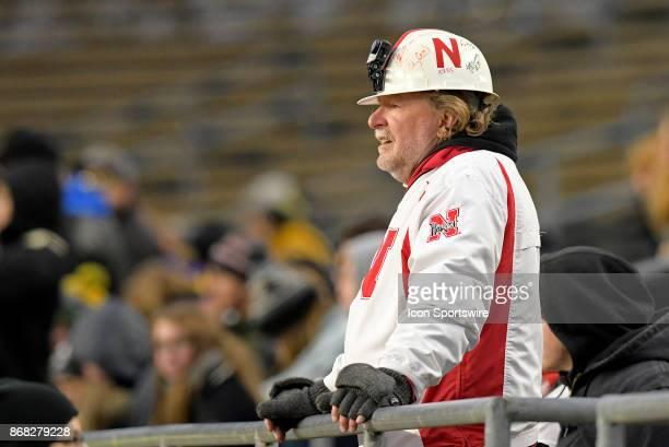 Nebraska Cornhuskers fan looks on during the Big Ten conference game between the Purdue Boilermakers and the Nebraska Cornhuskers on October 28 at...