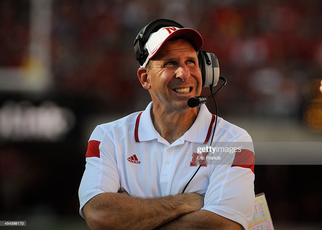 Nebraska Cornhuskers head coach <a gi-track='captionPersonalityLinkClicked' href=/galleries/search?phrase=Bo+Pelini&family=editorial&specificpeople=4682479 ng-click='$event.stopPropagation()'>Bo Pelini</a> reacts to a replay during their game against the Florida Atlantic Owls at Memorial Stadium on August 30, 2014 in Lincoln, Nebraska.