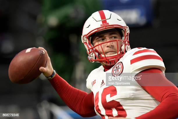 Nebraska Cornhuskers quarterback Andrew Bunch warms up for the Big Ten conference game between the Purdue Boilermakers and the Nebraska Cornhuskers...