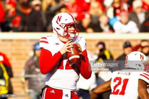 Nebraska Cornhuskers quarterback Patrick O'Brien drops back to pass in the 3rd quarter during the Big Ten Conference game between the Nebraska...