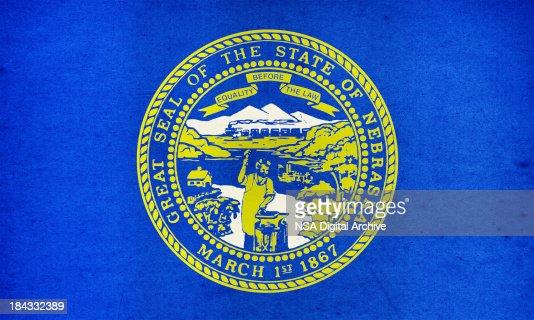 Nebraska Flag Close-Up (High Resolution Image)