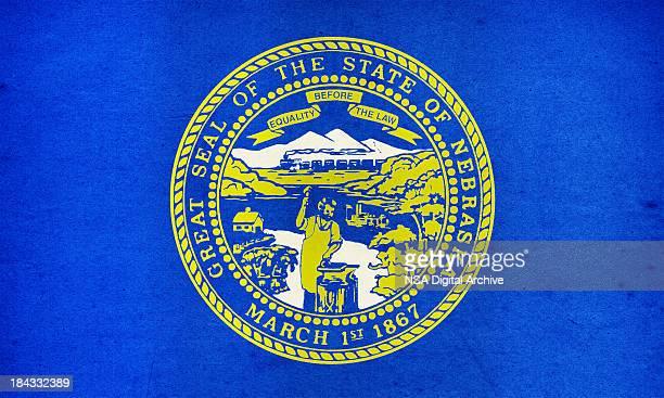 ネブラスカ州旗のクローズアップ(高解像度の画像