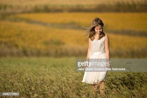 Nebraska Girl : Stock Photo