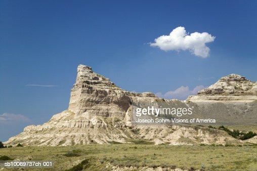 USA, Nebraska, Scottsbluff, Old Oregon Trail, Scotts Bluff National Monument