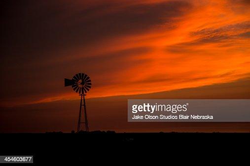 Nebraska Sunset : Stock Photo