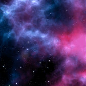 Background with nebula and stars in space