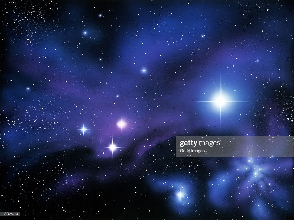 Nebula and stars (Digital Enhancement) : Stock Photo