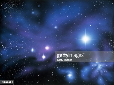 Nebula and stars (Digital Enhancement) : Stock Photo