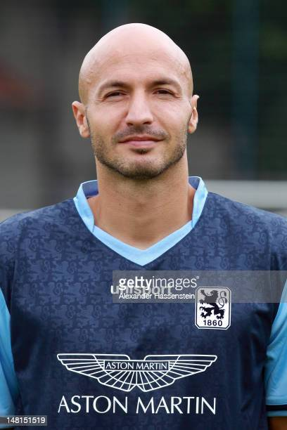 Necat Ayguen of 1860 Muenchen poses during the Second Bundesliga team presentation of TSV 1860 Muenchen on July 11 2012 in Munich Germany