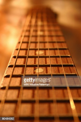 Neck of a guitar, close-up