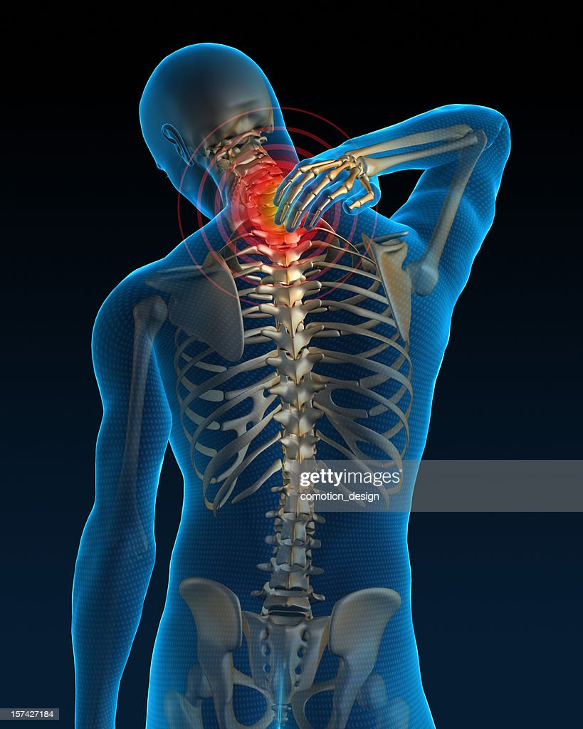 Neck pain : Stockfoto
