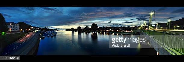 Neckar panoramic view with new home