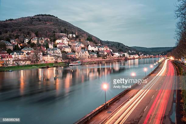 Neckar with Neuenheim in a Long Exposure