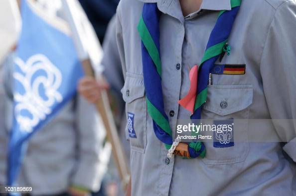 A neckerchief of a scout is pictured at the camp on August 1 2010 in Almke near Wolfsburg Germany About 5000 young scouts from Germany Russia Belgium...