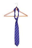 necktie on hanger.
