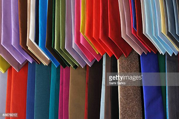 Neckties displayed in store