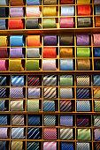Neckties displayed in store, Venice, Italy
