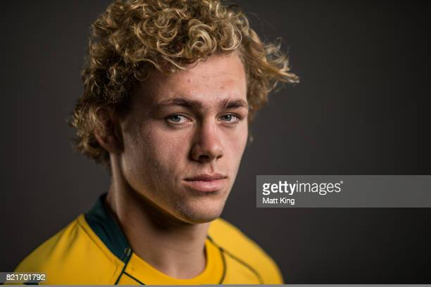 Ned Hanigan poses for a headshot during the Australian Wallabies Player Camp at the AIS on April 11 2017 in Canberra Australia