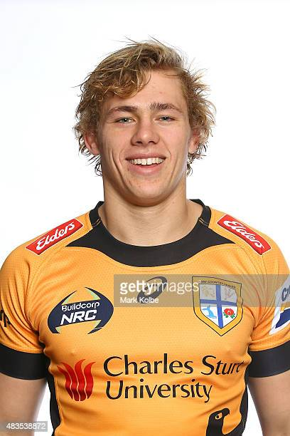 Ned Hannigan poses during the NSW Country Eagles Headshots Session at the NSW Rugby Union Offices on August 10 2015 in Sydney Australia