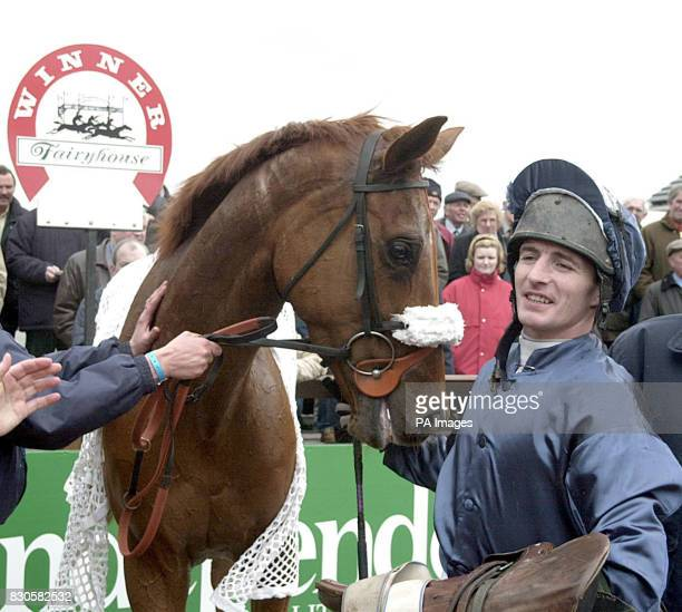 Ned Kelly ridden by Norman Williamson wins the 65 Fair Champion Novice Hurdle at the three day Irish Fairyhouse festival