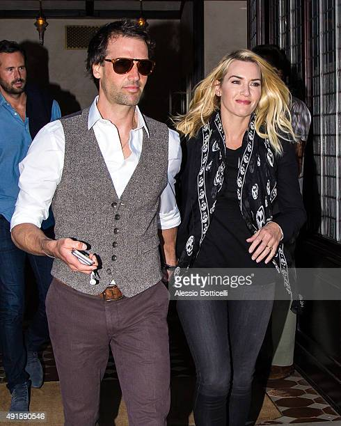 Ned Rocknroll and Kate Winslet are seen leaving a hotel on October 6 2015 in New York City