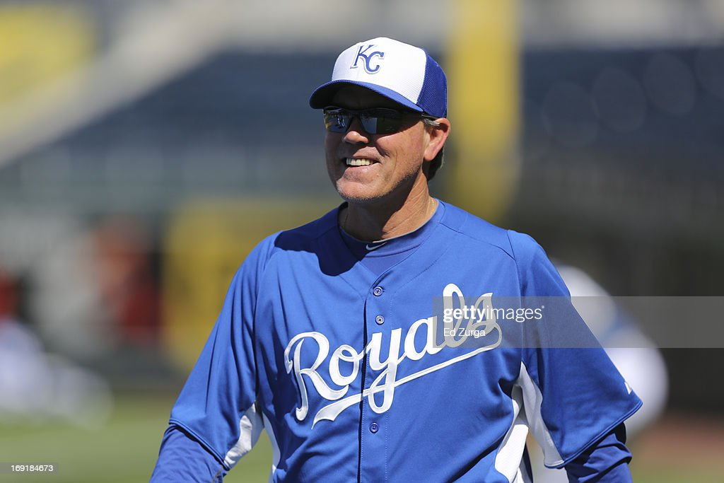 <a gi-track='captionPersonalityLinkClicked' href=/galleries/search?phrase=Ned+Yost&family=editorial&specificpeople=228571 ng-click='$event.stopPropagation()'>Ned Yost</a> manager of the Kansas City Royals walks the field prior to a game against the New York Yankees at Kauffman Stadium on May 11, 2013 in Kansas City, Missouri.