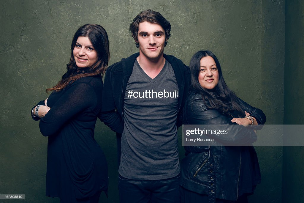 Nedda Soltani actor RJ Mitte and producer Melinda Esquibel pose for a portrait at the Village at the Lift Presented by McDonald's McCafe during the...