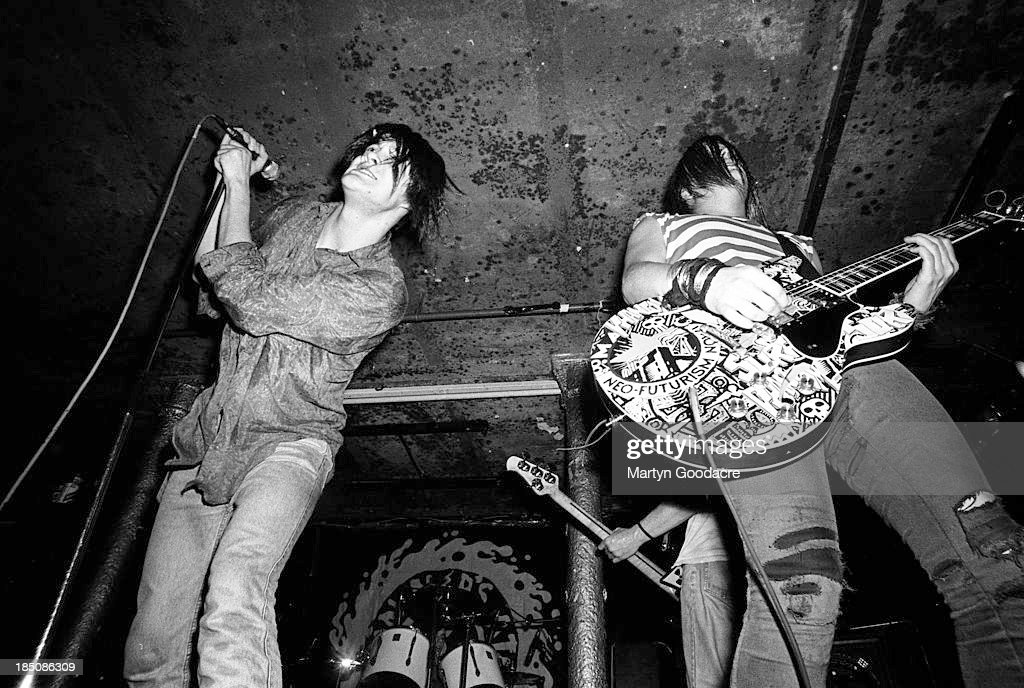Ned's Atomic Dustbin perform on stage in London, United Kingdom, 1991.