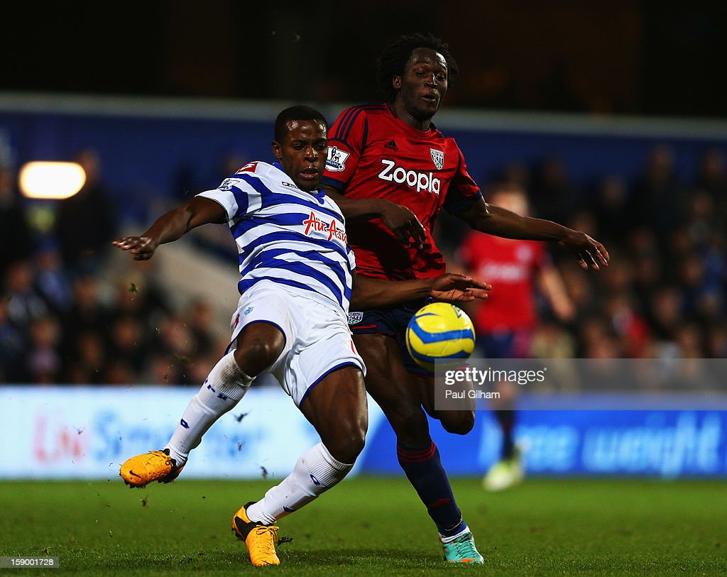 <a gi-track='captionPersonalityLinkClicked' href=/galleries/search?phrase=Nedum+Onuoha&family=editorial&specificpeople=2082844 ng-click='$event.stopPropagation()'>Nedum Onuoha</a> of Queens Park Rangers battles for the ball with <a gi-track='captionPersonalityLinkClicked' href=/galleries/search?phrase=Romelu+Lukaku&family=editorial&specificpeople=6342802 ng-click='$event.stopPropagation()'>Romelu Lukaku</a> of West Bromwich Albion during the FA Cup with Budweiser Third Round match between Queens Park Rangers and West Bromwich Albion at Loftus Road on January 5, 2013 in London, England.