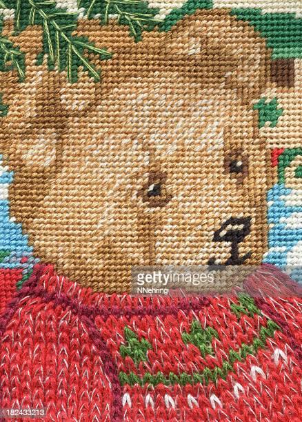 needlepoint bear