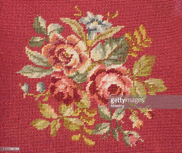 needlepoint with roses