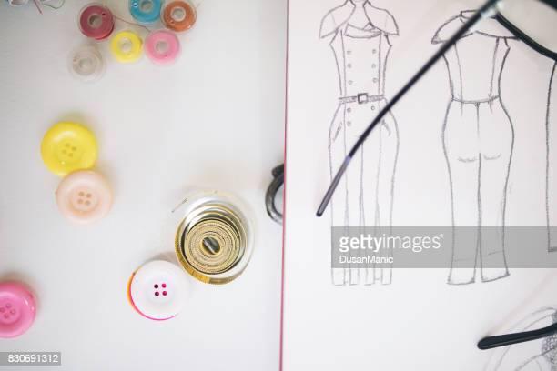 Needles, thread, scissors