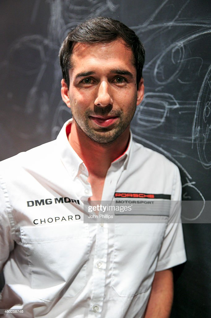 <a gi-track='captionPersonalityLinkClicked' href=/galleries/search?phrase=Neel+Jani&family=editorial&specificpeople=541892 ng-click='$event.stopPropagation()'>Neel Jani</a> during the launch of Sound of Porsche experience at Westfield London on December 10, 2014 in London, England.