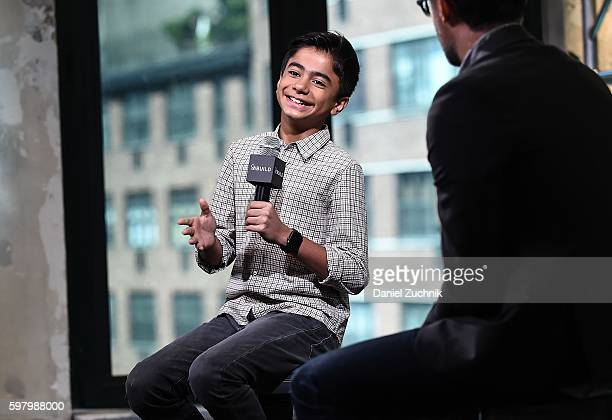Neel Sethi attends AOL Build to discuss his movie 'The Jungle Book' at AOL HQ on August 30 2016 in New York City