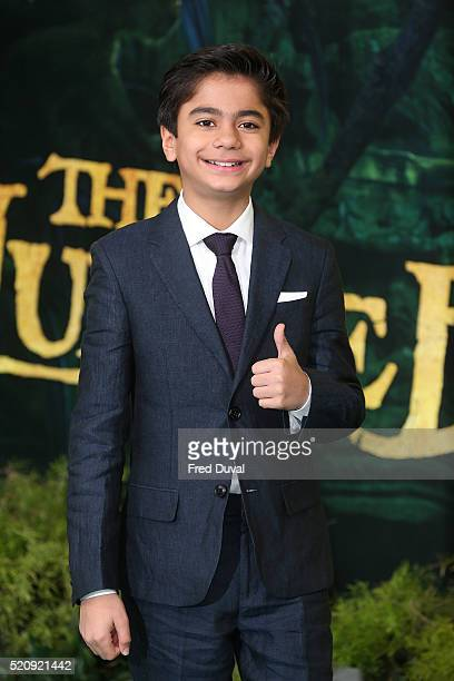 Neel Sethi attends the UK Premiere of 'The Jungle Book'at BFI IMAX on April 13 2016 in London England