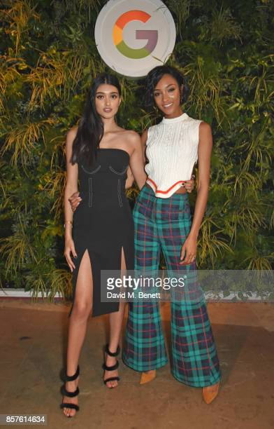 Neelam Gill and Jourdan Dunn attend Google's Pixel 2 phone launch at The Old Selfridges Hotel on October 4 2017 in London England