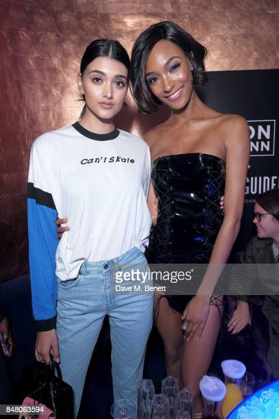 Neelam Gill and Jourdan Dunn attend LON DUNN x Missguided Official Launch Party Hosted by Jourdan Dunn at The London Reign on September 16 2017 in...